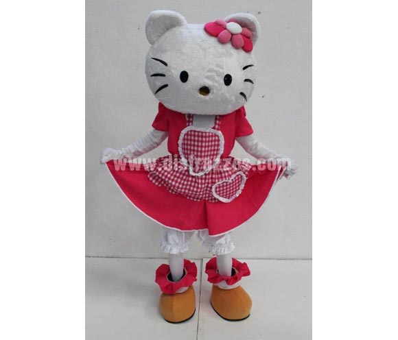 Disfraz o Mascota Publicitaria Gatita blanca
