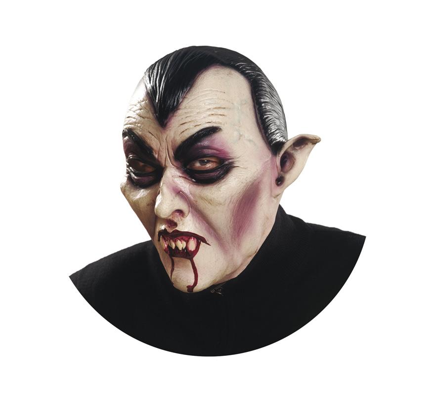 Máscara de Conde Drácula para Halloween. Excelente Careta integral, con muchos detalles, ideal para nuestros disfraces de Vampiros.