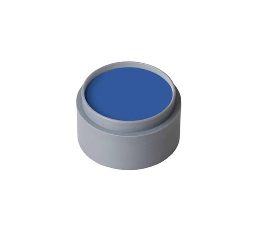 Maquillaje al agua (water make-up 304), de 15 ml. Color azul fuerte. -Fácil de usar, (como acuarelas).  -Se quita con agua y jabón. -Antialérgico.