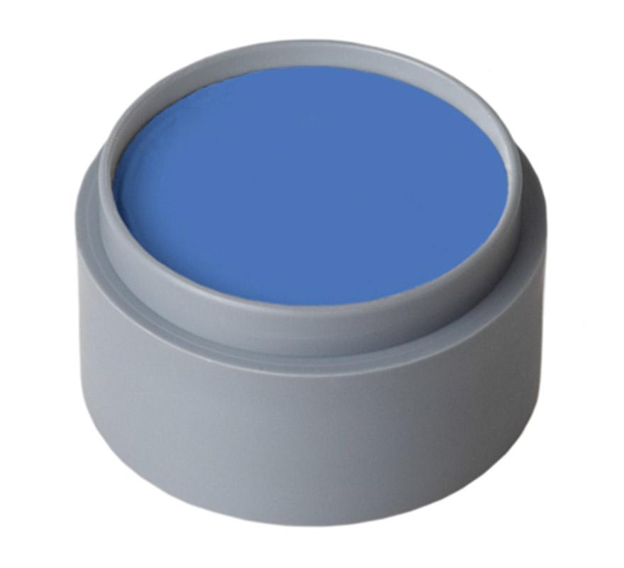 Maquillaje al agua de color azul (water make-up 303). Envase de 60 ml. Descripción del producto y disponibilidad Maquillaje con base de Aqua es un maquillaje sin gluten y sin fragancia. Este producto se utiliza para pintar la cara y el cuerpo. Water Make-up (Pure) está disponible en paletas de 6,12 ó 24 tazas de 2,5 ml. Los colores también se venden por separado en cajas de 15, 25 y 60 ml.