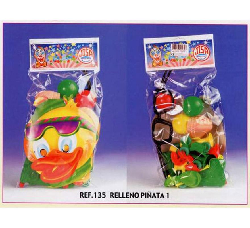 Bolsa Relleno para Piñatas nº1. Incluye artículos variados para rellenar las Piñatas de Cumpleaños.