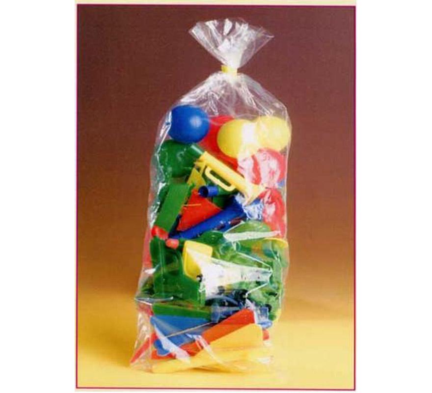 Bolsa grande 50 Baratijas surtidas para Carrozas. Colores y modelos variados. También sirve como relleno de Piñatas para los Cumpleaños.