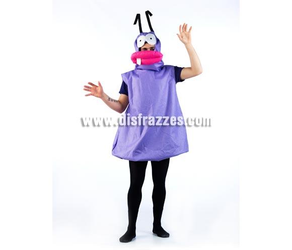 Disfraz de Hormigas sin ceja INFANTIL. Disponible en varias tallas. Incluye vestido y cabeza completa. Disfraz de Hormiga con ceja morada infantil. Un disfraz ideal para Grupos y Comparsas. Para jugar a ser Trancas y Barrancas.