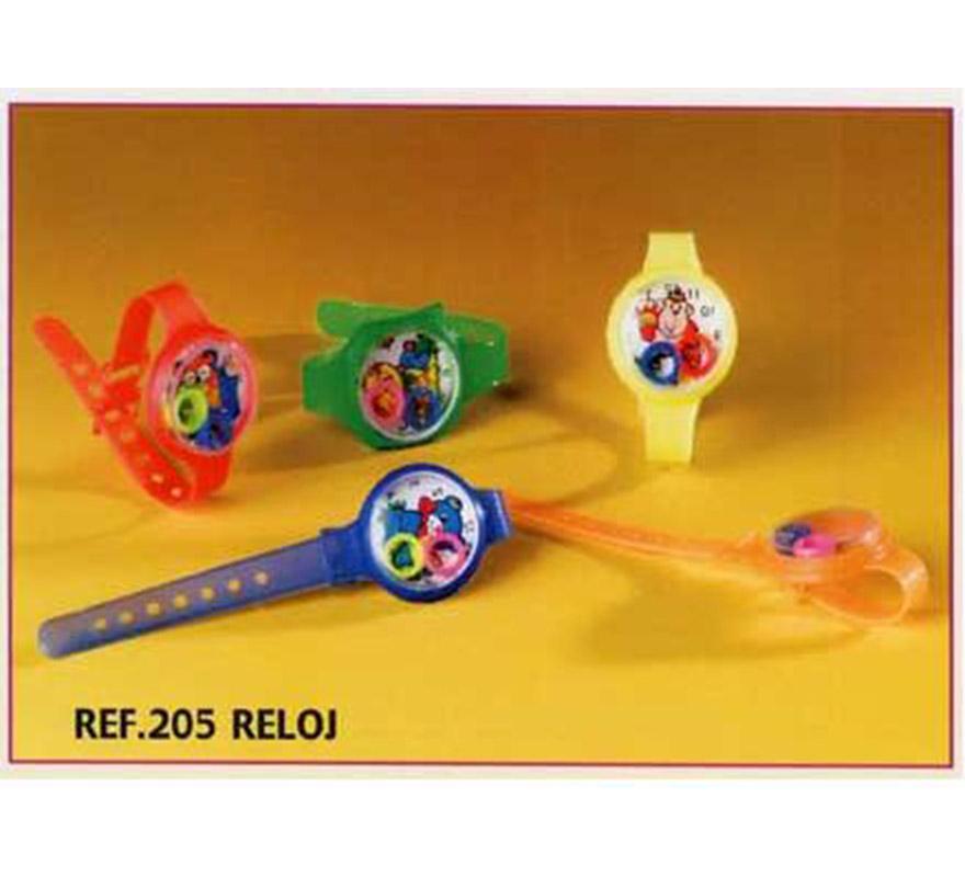 Bolsa de 72 uds. Reloj para Carrozas y Piñatas. Colores variados. También sirve como relleno de Piñatas para los Cumpleaños.