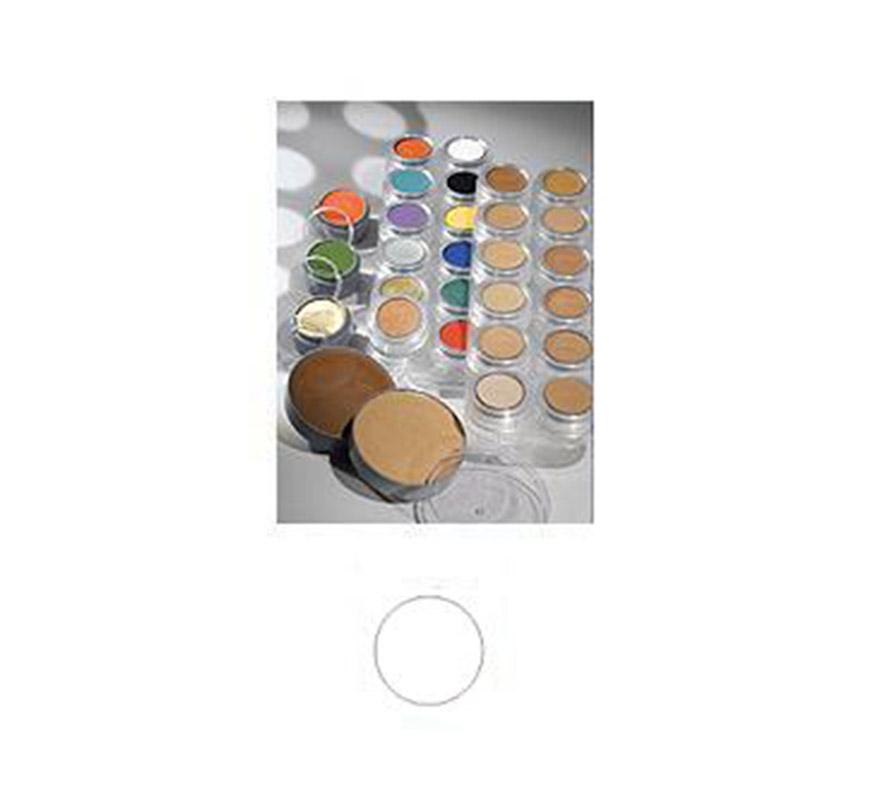 Maquillaje de Crema de color blanco (cremè make-up 001). Envase de 60 ml. Descripción del producto y disponibilidad Crème Make-up (Pure)* es un maquillaje con base de aceites y ceras y tiene muy buenas capacidades de cobertura. Se utiliza para camuflaje cosmético y maquillaje teatral. Crème Make-up (Pure) está disponible en paletas de 6 y 12 piezas, tambien de manera individual en empaques de 2,5, 15 y 60 ml. * Muchos de los productos (Water Make-up, Camouflage Make-up, etc.) utilizan la palabra -Pure- en sus nombres. Esto significa que el producto en cuestión no contiene conservantes químicos (como paraben) o componentes orgánicos halogenados. Los productos -Pure-, así como los demás productos, no contienen gluten ni fragancia. Maquillaje ideal para caracterizarte en Carnaval, en Halloween o en cualquier fecha del año que tengas ocasión para ir de Fiesta a Pubs, Discotecas, Casas particulares, Restaurantes o Colegios y ayudar a crear un ambiente Festivo propio de la Fiesta a la que acudas. ¡¡Compra el maquillaje para tu disfraz de Carnaval o de Halloween en nuestra tienda de disfraces, será divertido!!