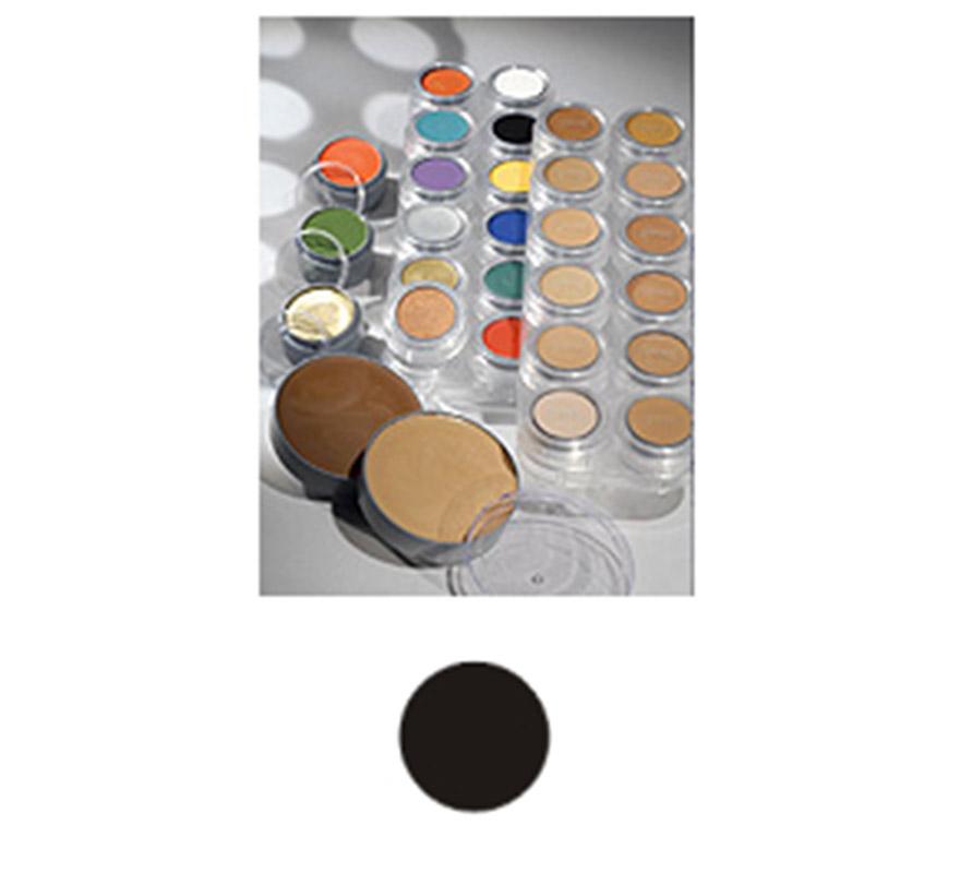 Maquillaje en crema (cremè make-up 101), de 15 ml, de color negro.  Fácil de usar, se quita con agua y jabón, antialérgico.