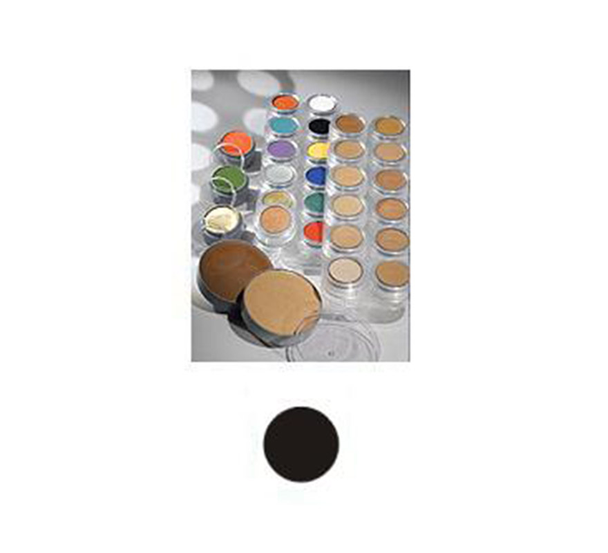 Maquillaje de Crema de color negro. Envase de 60 ml. Descripción del producto y disponibilidad Crème Make-up (Pure 101)* es un maquillaje con base de aceites y ceras y tiene muy buenas capacidades de cobertura. Se utiliza para camuflaje cosmético y maquillaje teatral. Crème Make-up (Pure) está disponible en paletas de 6 y 12 piezas, tambien de manera individual en empaques de 2,5, 15 y 60 ml. * Muchos de los productos Grimas (Water Make-up, Camouflage Make-up, etc.) utilizan la palabra -Pure- en sus nombres. Esto significa que el producto en cuestión no contiene conservantes químicos (como paraben) o componentes orgánicos halogenados. Los productos -Pure-, así como los demás productos de Grimas, no contienen gluten ni fragancia.