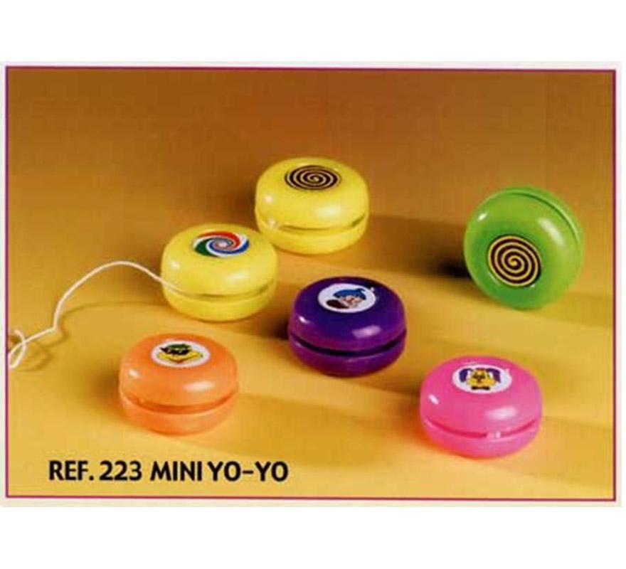 Bolsa de 24 uds. Mini Yo-Yos para Carrozas. Colores variados. También sirve como relleno de Piñatas para los Cumpleaños.