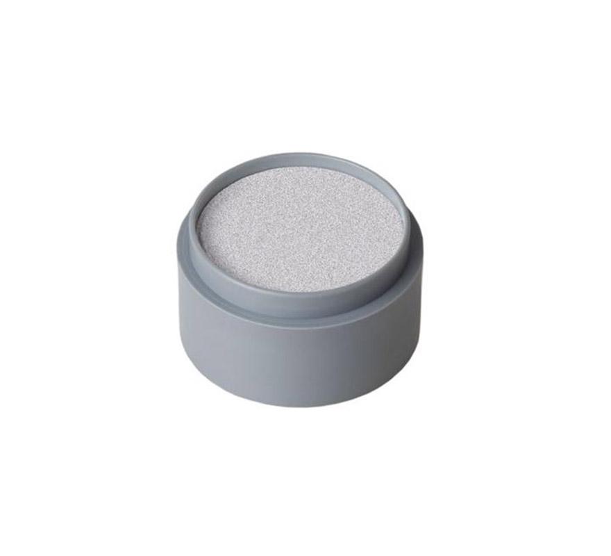 Maquillaje en crema (cremè make-up 701), de 15 ml, de color plata perlado.  Fácil de usar, se quita con agua y jabón, antialérgico.