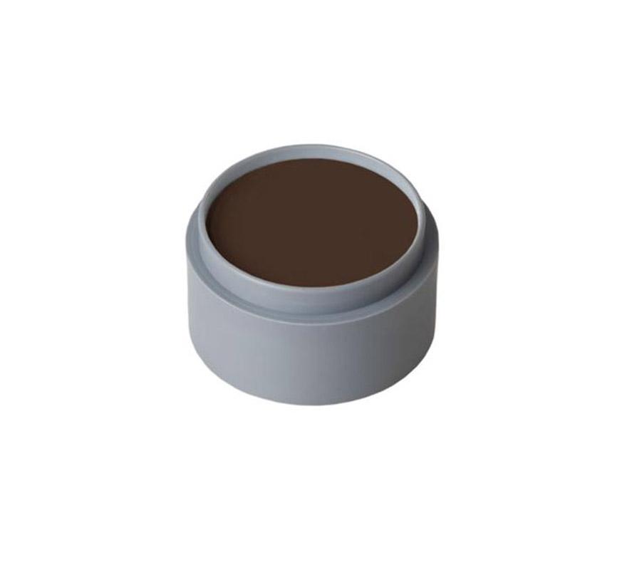Maquillaje en crema (cremè make-up 1001), de 15 ml, de color marrón oscuro.  Fácil de usar, se quita con agua y jabón, antialérgico.