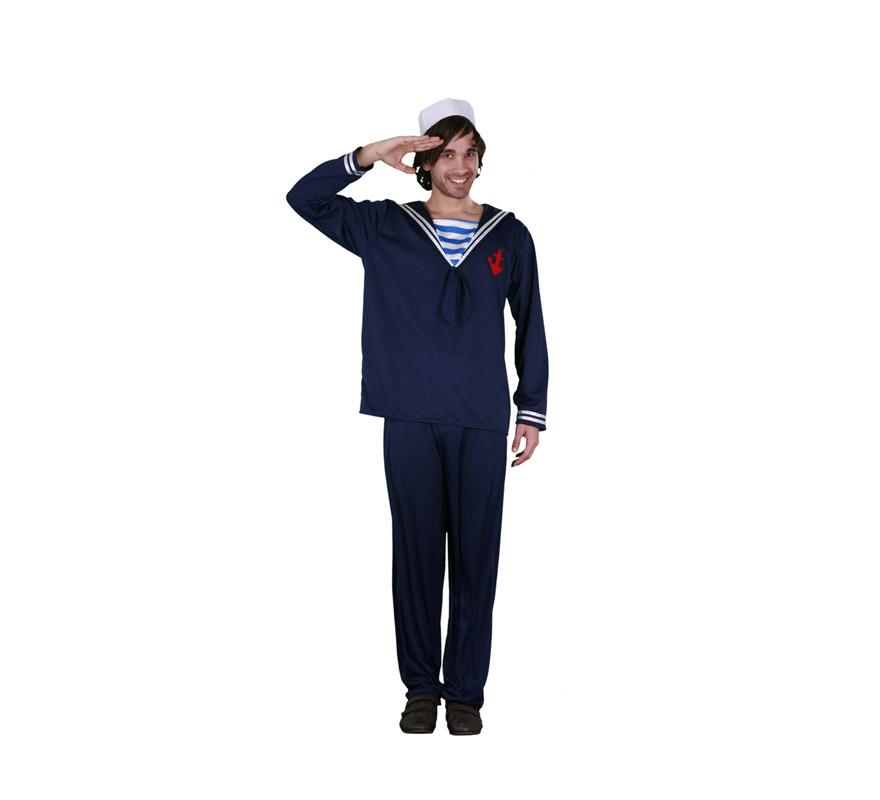 Disfraz de Marinero adulto. Talla standar M-L 52/54. Incluye camisa y pantalón.