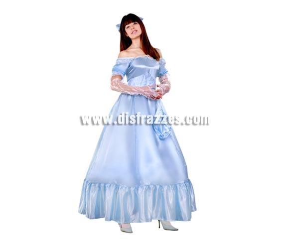 Disfraz barato de Dama Sureña adulta para Carnaval. Talla standar M-L = 38/42. Incluye lazo, vestido, mitones, limosnera y fajín.