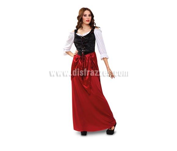 Disfraz barato de Tabernera Medieval adulta. Talla standar M-L = 38/42. Incluye vestido. Disfraz de Mesonera o Posadera Medieval para mujer ideal para Ferias Medievales.