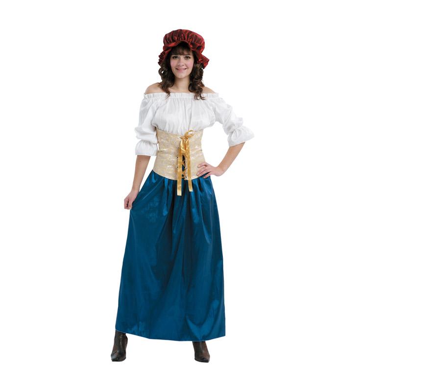 Disfraz barato de Sirvienta Medieval adulta para mujer