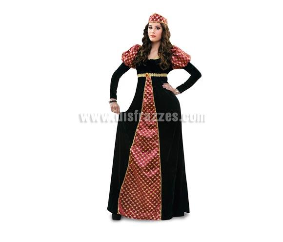 Disfraz de Princesa Medieval adulta. Talla standar M-L 38/42. Incluye vestido y tocado. Un disfraz ideal para Ferias Medievales. Disfraz de Dama Medieval para mujer.