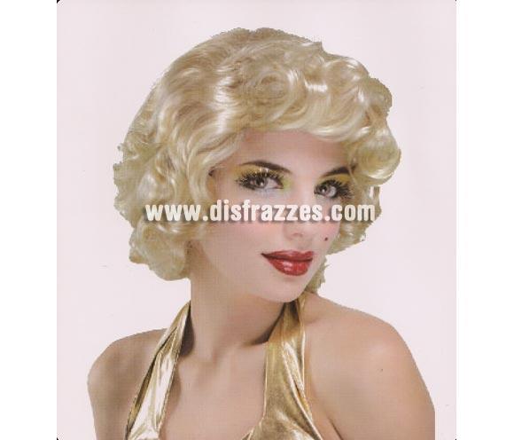 Peluca Marilyn para Carnaval. Talla Universal adultos.