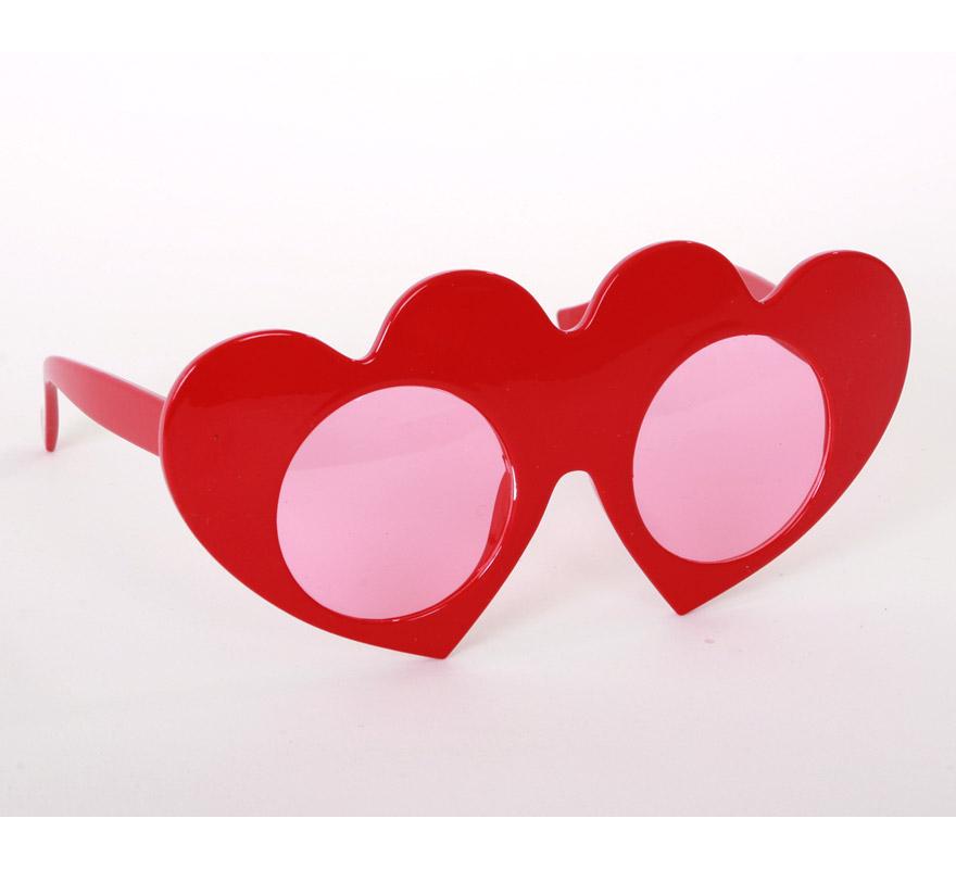 Gafas en forma de Corazón rojas. Perfectas también para Despedidas de Soltera.