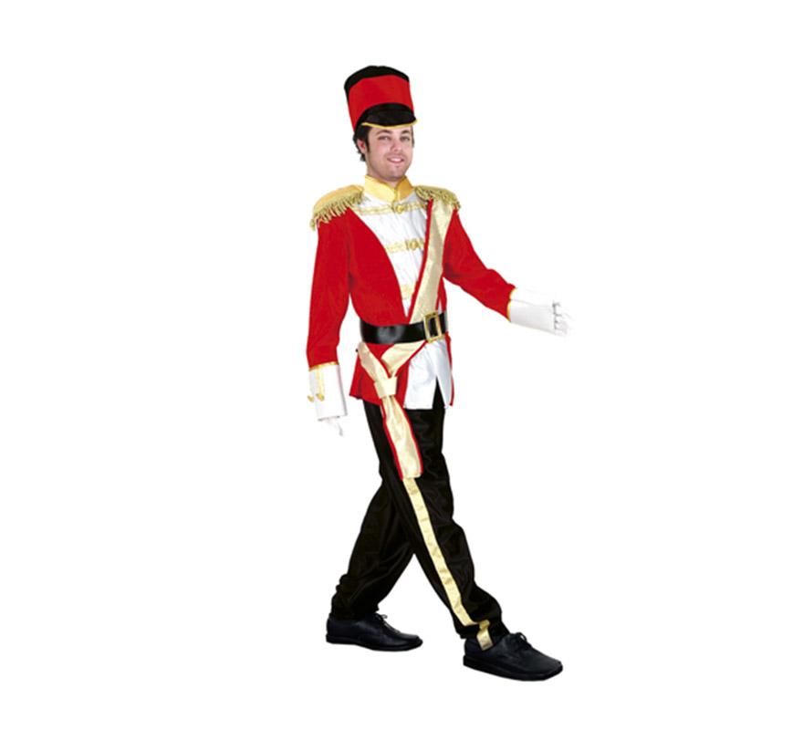 Disfraz de Soldado Inglés para chicos delgados de talla S 48/52 y para adolescentes. Incluye chaqueta, pantalón, cinturón y gorro.