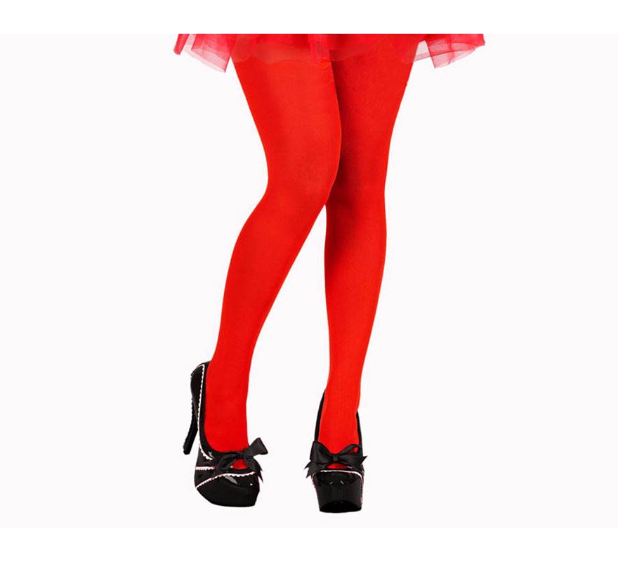 Pantys de color rojo talla universal. Ideales para el disfraz de Caperucita Roja.