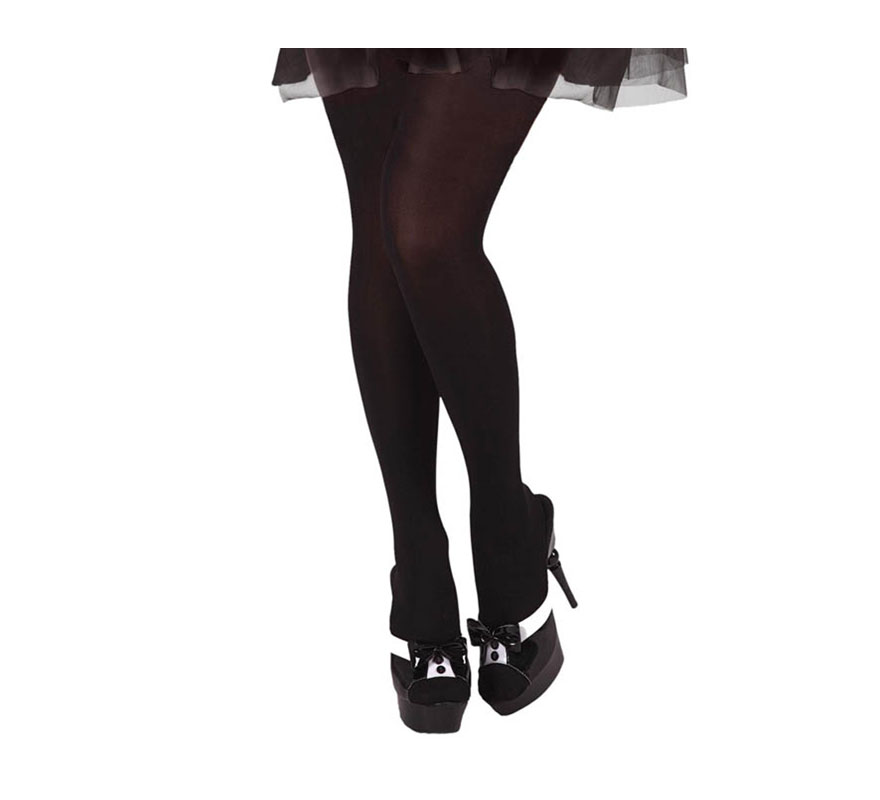 Pantys de Sirvienta o Camarera de color negro talla universal.