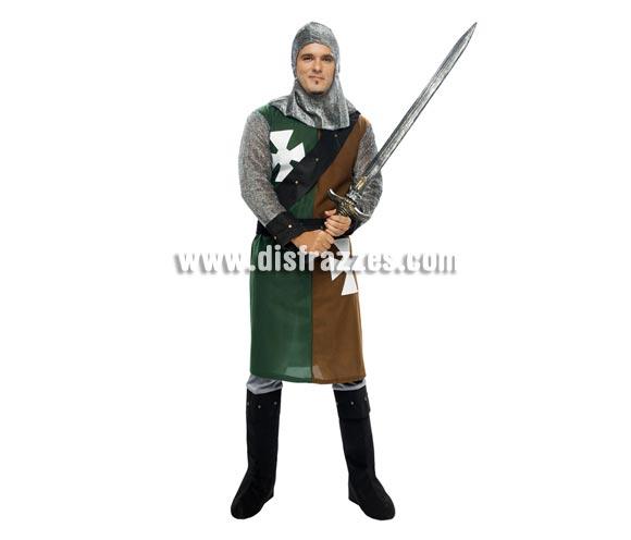 Disfraz de Caballero Medieval verde-marrón adulto. Talla XL = 54/58. Incluye verdugo, casaca, cinturón y pantalones-botas de tela. Hacha NO incluida, podrás verla en la sección de Complementos.