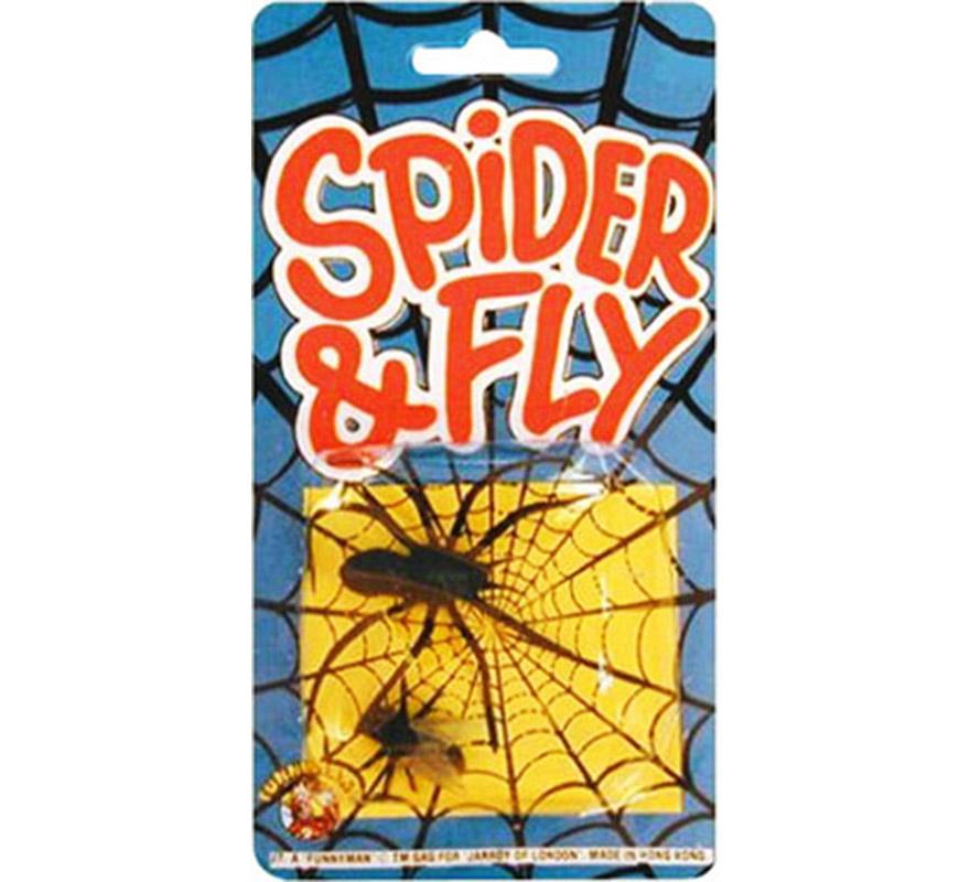 Araña y mosca.