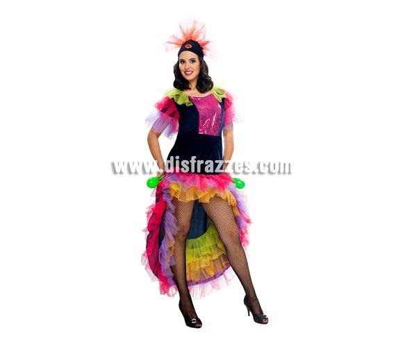 Disfraz de Salsa adulta. Talla XL = 44/48. Incluye vestido y tocado del pelo. Disfraz de Caribeña, Rumbera o Brasileña para mujer.