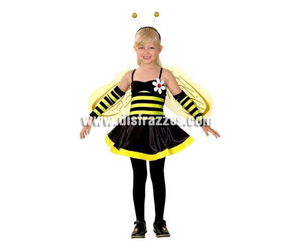 Disfraz de Hada Avispa infantil barato para Carnaval. Talla de 3 a 4 años. Incluye vestido, alas, tocado y manguitos. También disfraz de Abeja o Abejita.