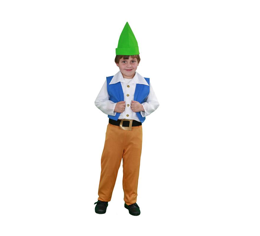 Disfraz de Enanito chaleco azul infantil para Navidad o para Carnaval. Talla de 7 a 9 años. Incluye gorro, camisa, chaleco, cinturón y pantalón. Disfraz de Duende o Duendecillo para Carnaval y para Navidad. Éste disfraz de Navidad es ideal para la época Navideña en la que los niños hacen teatros de Belenes e interpretan canciones tradicionales en los Colegios y se comienzan a preparar las Fiestas en las que Reina la Paz y la Unidad. Disfrazándote con un disfraz para Navidad, o disfrazando a tus hijos con disfraces de Navidad, ayudas a crear ese ambiente mágico en el que los peques se sienten protagonistas y sienten el auténtico Espíritu Navideño que entre todos debemos crear. ¡¡Compra tu disfraz para Navidad en nuestra tienda de disfraces, será divertido!!