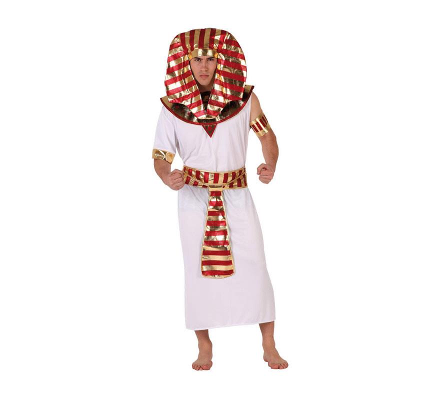Disfraz de Egipcio para hombre. Talla 2 ó talla Standar 52/54. Incluye disfraz completo.