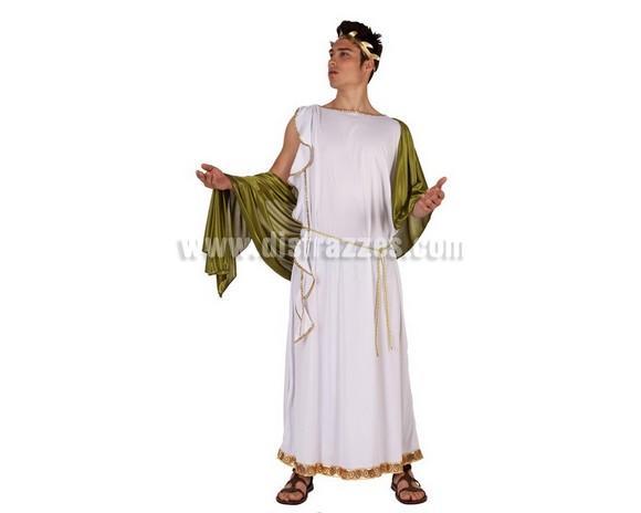 Disfraz de Emperador Griego para hombre. Talla 2 ó talla Standar M-L = 52/54. Incluye disfraz completo. Ideal para disfrazarte de Romano.