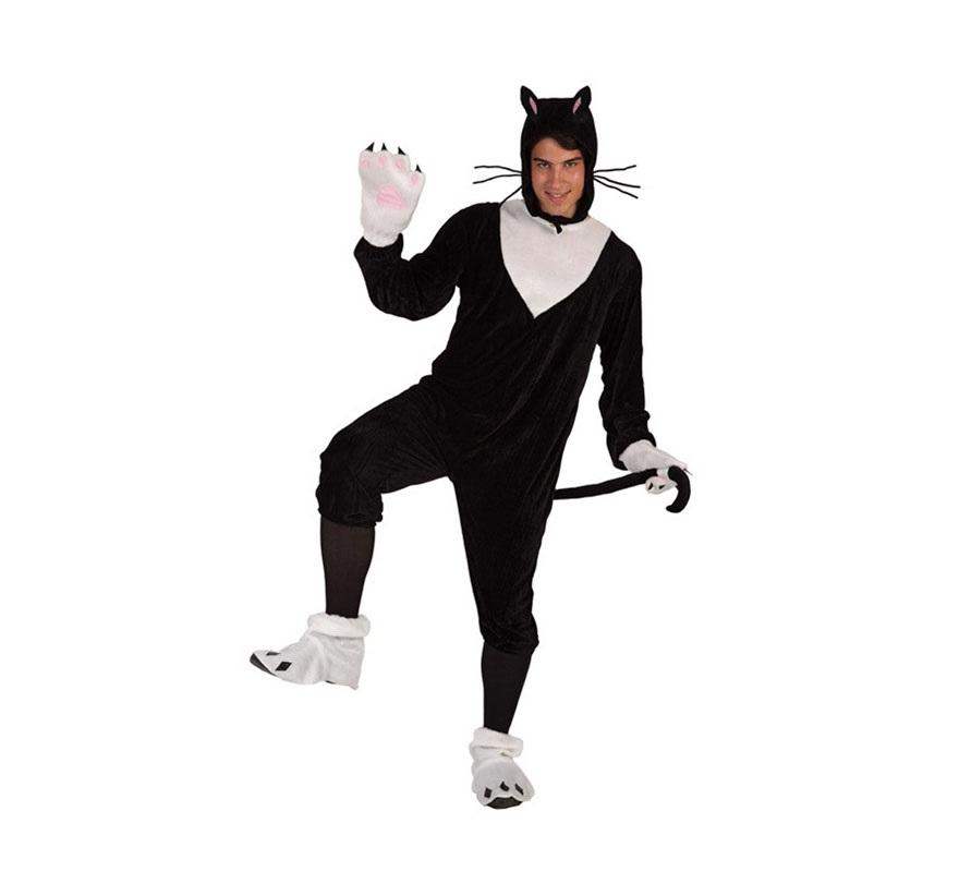 Disfraz de Gato para hombre. Talla 3 ó talla XL = 54/58. Incluye disfraz completo.