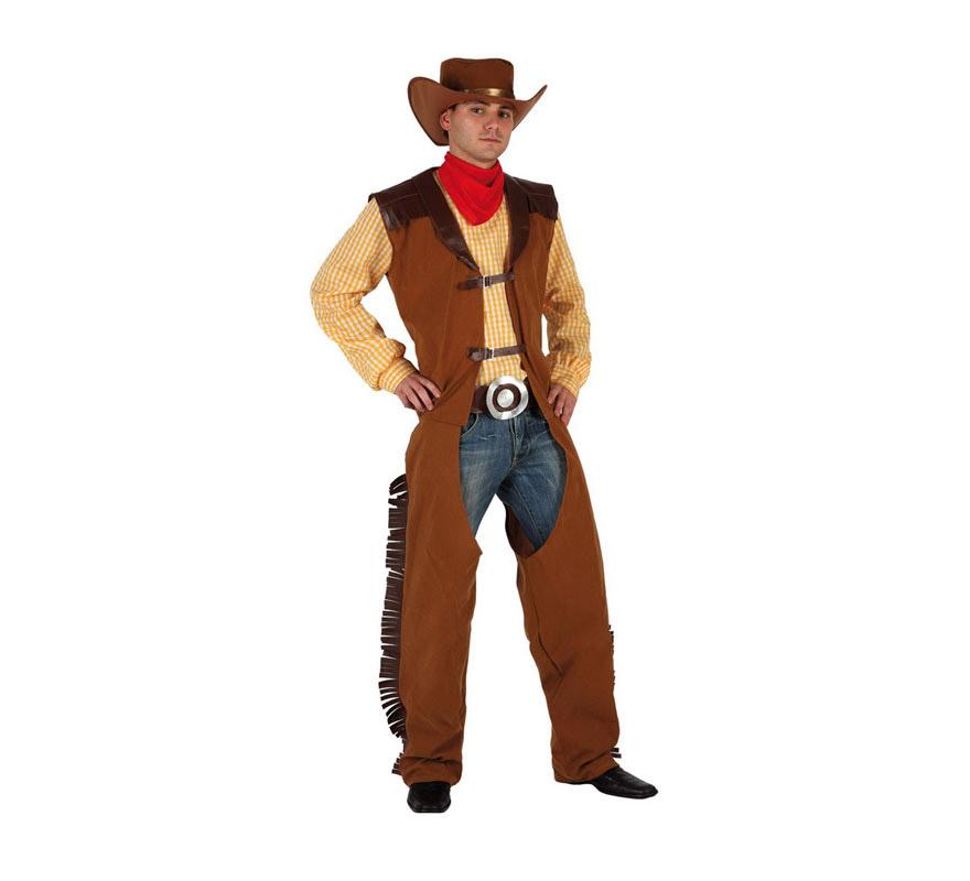 Disfraz de Pistolero o Vaquero para hombre. Talla 1 ó talla S 48/52 para chicos delgados y adolescentes. Incluye disfraz completo. Pantalón vaquero NO incluido.