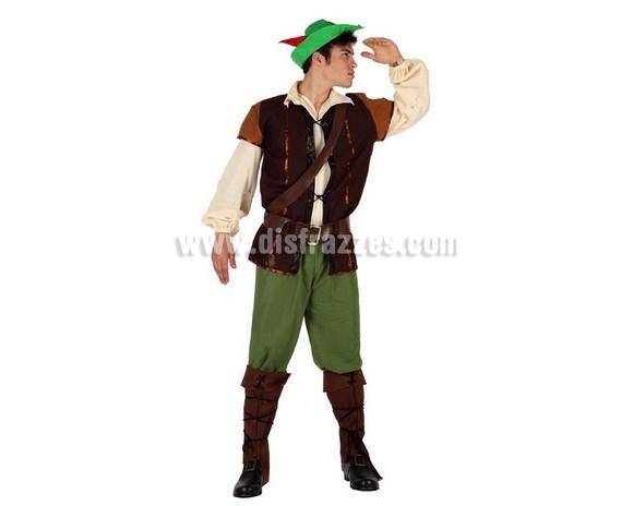 Disfraz de Chico de los Bosques para hombre. Talla 3 ó talla XL 54/58. Incluye disfraz completo. Disfraz de Robin Hood para hombre.