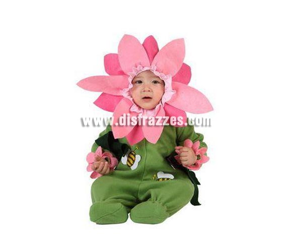 Disfraz de Flor para bebés de 6 a 12 meses. Incluye traje completo.