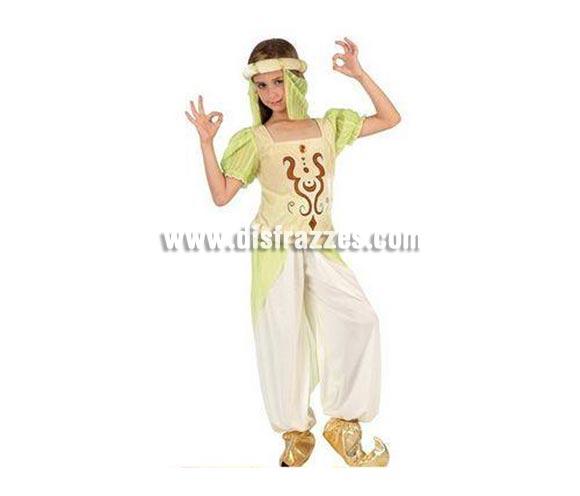Disfraz de Bailarina Árabe para niñas de 3 a 4 años. Incluye pantalón, camisa y turbante.