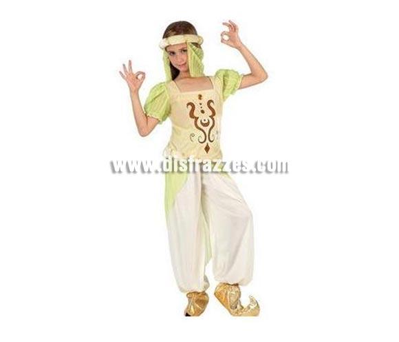 Disfraz de Bailarina Árabe para niñas de 10 a 12 años. Incluye pantalón, camisa y turbante.
