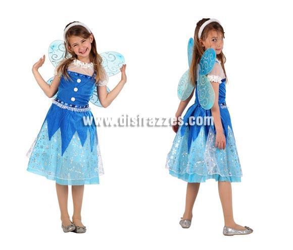 Disfraz Hada de Invierno para niñas de 5 a 6 años. Incluye disfraz completo.