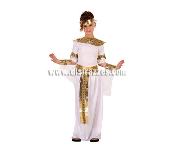 Disfraz de Egipcia para niñas de 7 a 9 años. Incluye traje completo.
