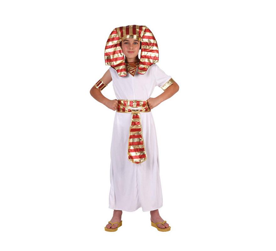 Disfraz de Faraón Egipcio para niños de 7 a 9 años. Incluye disfraz completo SIN zapatos.