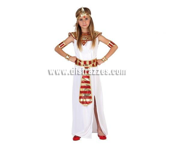 Disfraz de Faraona para niñas de 10 a 12 años. Incluye disfraz completo SIN zapatos. Disfraz de Cleopatra Reina del Nilo o Reina de Egipto para niñas.
