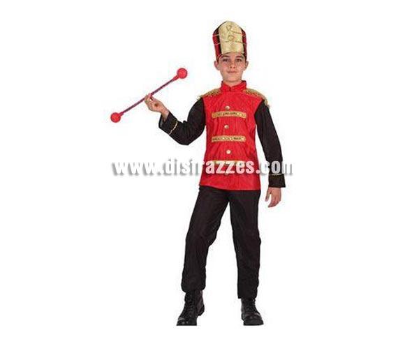 Disfraz de Músico o Majorette para niños de 7 a 9 años. Incluye pantalón, camisa y gorro. Varita NO incluida.