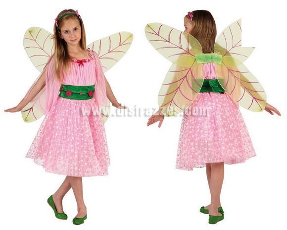 Disfraz de Hada de Primavera para niñas de 5 a 6 años. Incluye disfraz completo.