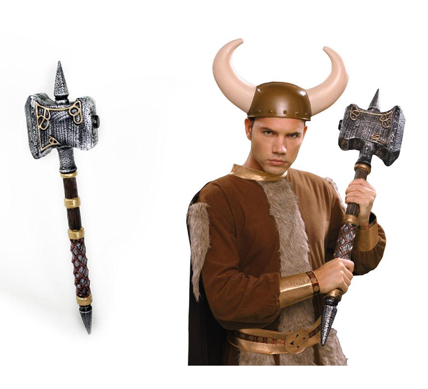 Martillo Vikingo o Bárbaro de 89 cm. También puede valer para los disfraces de Troglodita o Cavernícola.