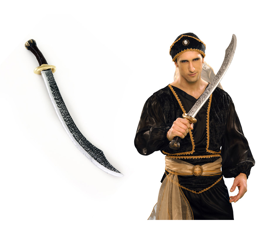 Espada o Sable Árabe de 69 cm. El complemento ideal para tu disfraz de Árabe.