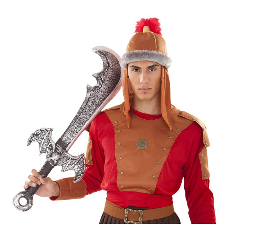 Espada o Sable con Murciélago 84 cm. Perfecto como complemento de los disfraces de Vikingo o Bárbaro.