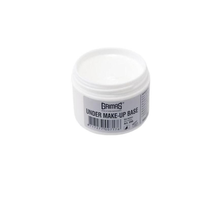 Under Make-up Base (base para maquillaje) es una crema no perfumada y sin grasa, para el cuidado de la piel. Cuando la piel está seca o es sensible se aplica en general debajo del maquillaje, pero también se puede utilizar como una crema de uso regular. Under Make-up está disponible en frascos de 75 ml.  Procedimiento Saque el Under Make-up (base para maquillaje) de su envase con una espátula de plástico y aplique la emulsión uniformemente sobre la cara limpia. Deje que se seque el producto durante 10 minutos para que la piel lo absorba totalmente, antes de continuar maquillando. Cierre bien el envase una vez que haya utilizado el producto.