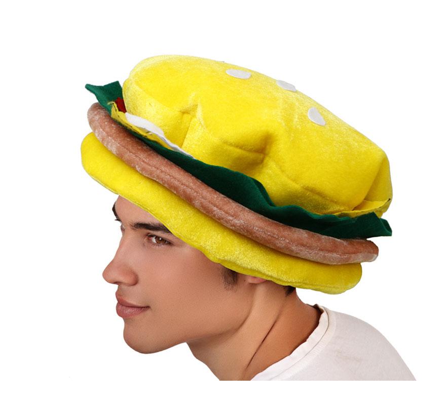 Gorro o Sombrero en forma de Hamburguesa.