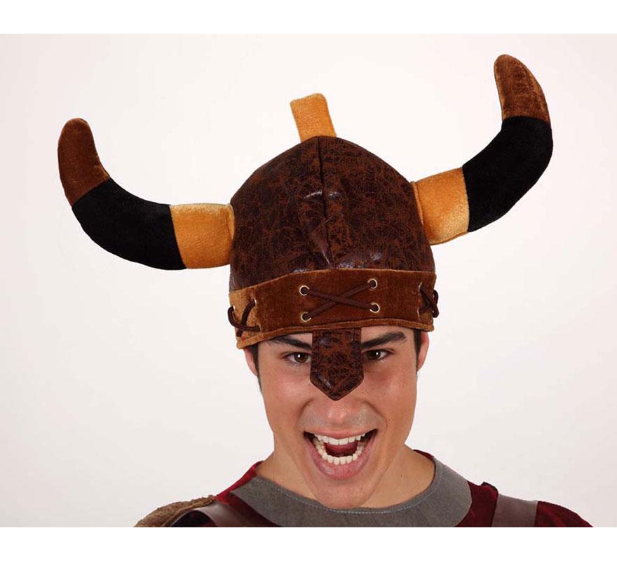 Casco Vikingo con cuernos. Perfecto para los disfraces de Bárbaro.