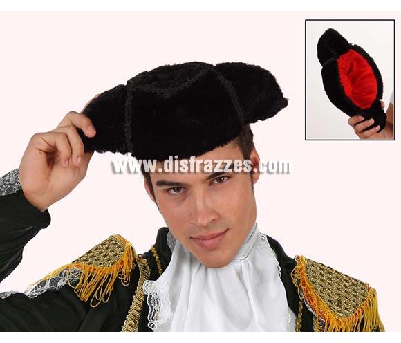 Montera de Torero lujo de terciopelo. Para adultos. El complemento ideal para tu disfraz de Torero o de Torera.